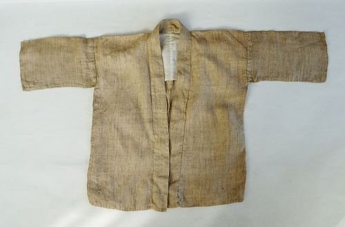 Japanese Vintage Textile Hemp Hanten Noragi Work Wear