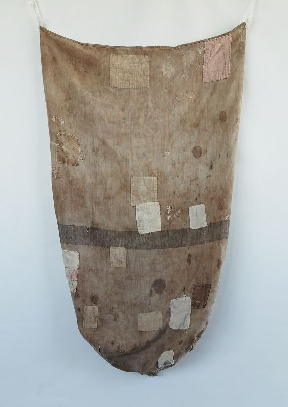 Japanese Vintage Textile Boro Large Asa Bag  Used by Business
