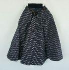 Japanese Antique Textile Cape Made of Cotton Kasuri and Stripes