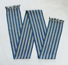 Japanese Vintage Textile Shonai Obi Hand-Woven of Cotton & Paper Yarn