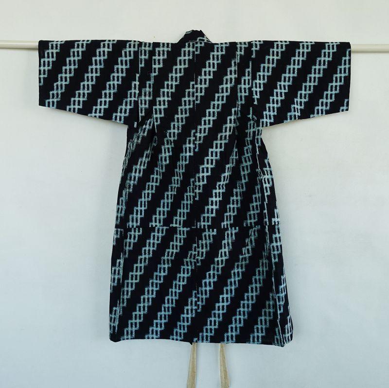 Japanese Vintage Textile Cotton Child&s Kurume Kasuri Kimono