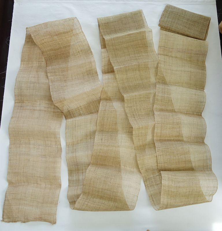Vintage Chinese Textile Roll of Asa Cloth Hand-Plied