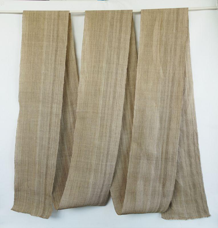 Japanese Antique Textile Roll of  Asa Taima Cloth Bast Fiber