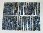 Japanese Vintage Textile Washi Sheets with Sample Cotton Fragments