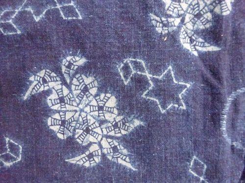 Japanese Antique Textile Indigo Urumi-zome Cotton Cloth