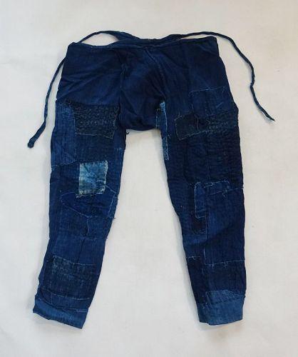 Japanese Vintage Textile Boro Cotton Momohiki Pants Noragi