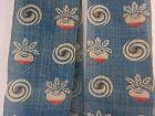 Japanese Vintage Textile Asa Cloth for Obi with Mingei Katazome