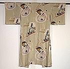 Japanese Vintage Textile Silk Woman's Juban