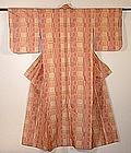 Japanese Vintage Textile Silk Tsumugi Kimono