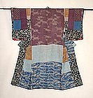 Japanese Antique Textile Hagi-isho Juban Edo