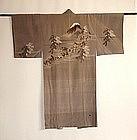 Japanese Vintage Textile Man's Silk Juban Hakone