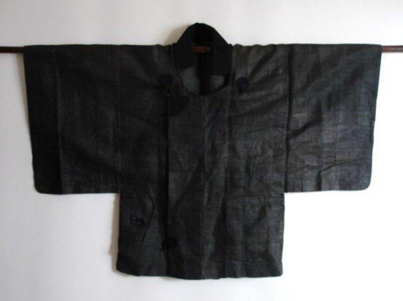 Japanese Antique Textile Kudzu-fu Dochugi Edo Meiji