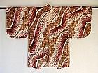 Japanese Vintage Textile Meisen Haori Chrysanthemum