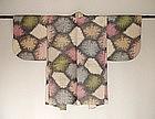 Japanese Vintage Textile Meisen Haori Smoky Stonewall