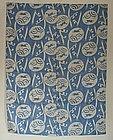 Japanese Vintage Textile Asa Futon Cover With Rabbit