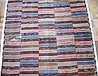 Japanese Vintage Mingei Textile Sakiori Rug Boro
