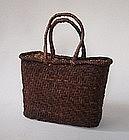 Japanese Vintage Mingei Basket Walnut