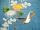 Japanese Antique Textile Fragment Of Kosode Kimono Edo