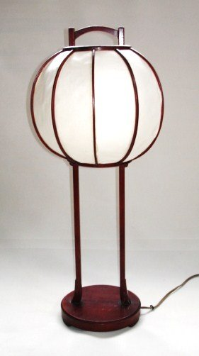 Japanese Antique Wooden Urushi Andon Lantern