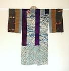 Japanese Antique Textile Silk Hagi-isho Juban