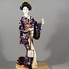 Japanese Geisha Bijin Musician Doll Holding Shamisen