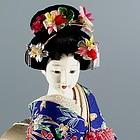 Geisha Doll with Flower Ornaments in Hair