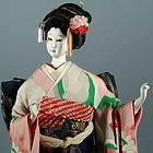 Antique Japanese Maiko Geisha Doll with Gofun Face