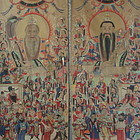 Pair of Daoist Scroll Painting on Material, #1 of 2