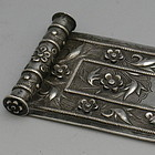 Rare Chinese Sterling Silver Scholar's Brush Rest