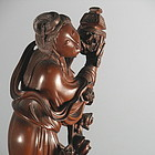 Rare Chinese Thorn Wood Chang E Statue Figure
