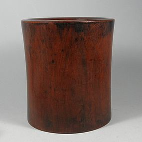 Rare Chinese Huanghuali Brush Pot