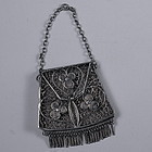 Small Chinese Filigree Chatelaine Silver Coin Purse