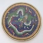 Japanese Cloisonne Dish with Dragon, Meiji Era