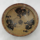 Southern Song Chinese Jizhou Tea Bowl with Dragons