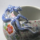 Chinese Porcelain  Mille Fleur Bowl with Dragon and Bat