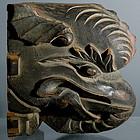 Chinese Wooden Elephant Bracket, Circa 1850