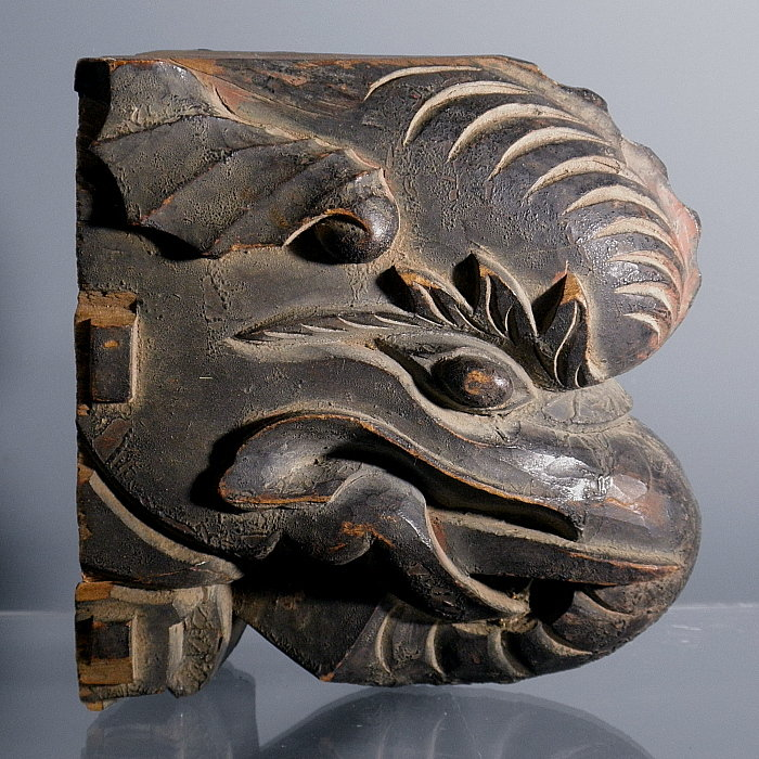 Chinese Wooden Elephant Bracket, Circa 1850