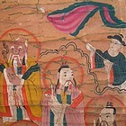 Antique Chinese Taoist Scroll Painting on Paper