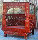 Red and Gold Wooden Chinese Marriage Wedding Bed