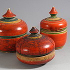 Southeast Asian Small Wood Cosmetic Boxes