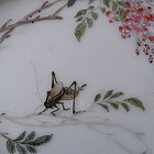 Chinese Porcelain Plaque Qianjiang Painting Cricket