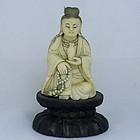 Ivory Chinese Guanyin Buddha Figurine