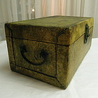 Large Chinese Shagreen Sharkshin Scholar Document Box