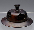 Chinese Wood Lid or Cap and Stand for Ginger Jar