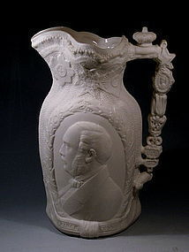 Antique Queen Victoria Prince Albert Royal Pitcher
