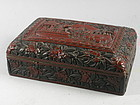 Rare Black and Red Cinnabar Box QianLong