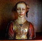 Antique Italian Terracotta Bust Renaissance Woman