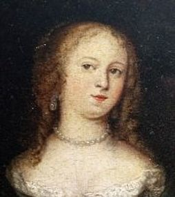 Rare 17th C Dutch Portrait of Lady by Casper Netscher