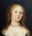 Rare 17th C Dutch Portrait of Lady by Casper Netscher