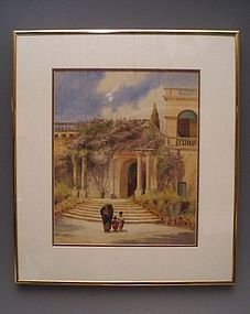 19th C Scottish Watercolor Corsica, James Paterson